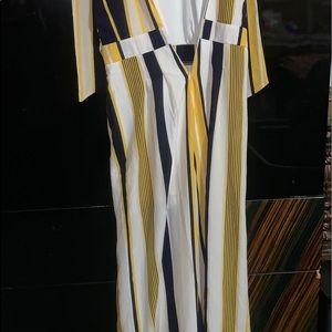 Stripe jumpsuit from fashion nova